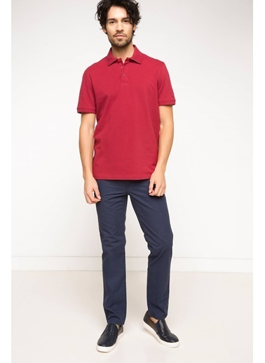 DeFacto Basic Polo T-shirt Bordo
